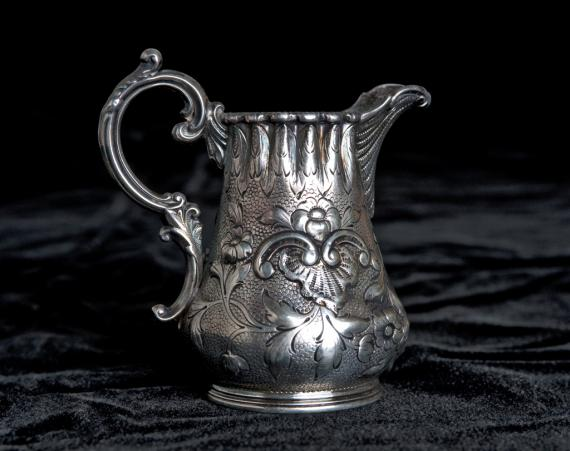 Image of silver pitcher