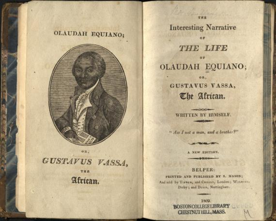 Image of Equiano book front pages