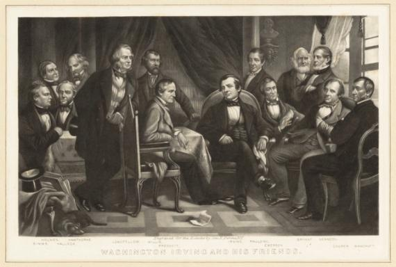 Image of Washington Irving and his Friends at Sunnyside
