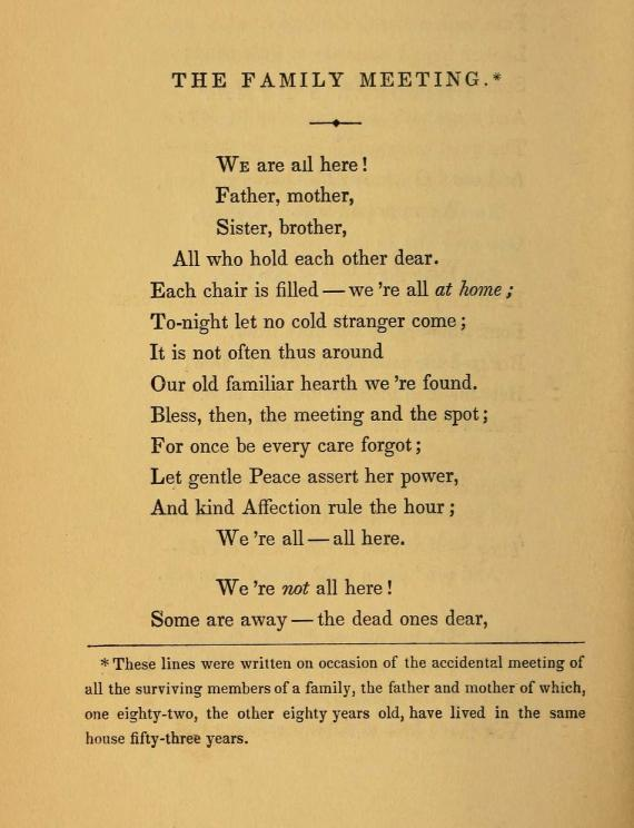 "Image of the poem ""The Family Meeting"""