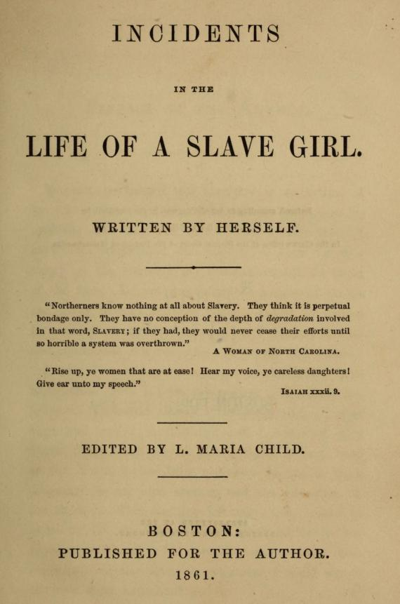 Image of Harriet Jacobs Book