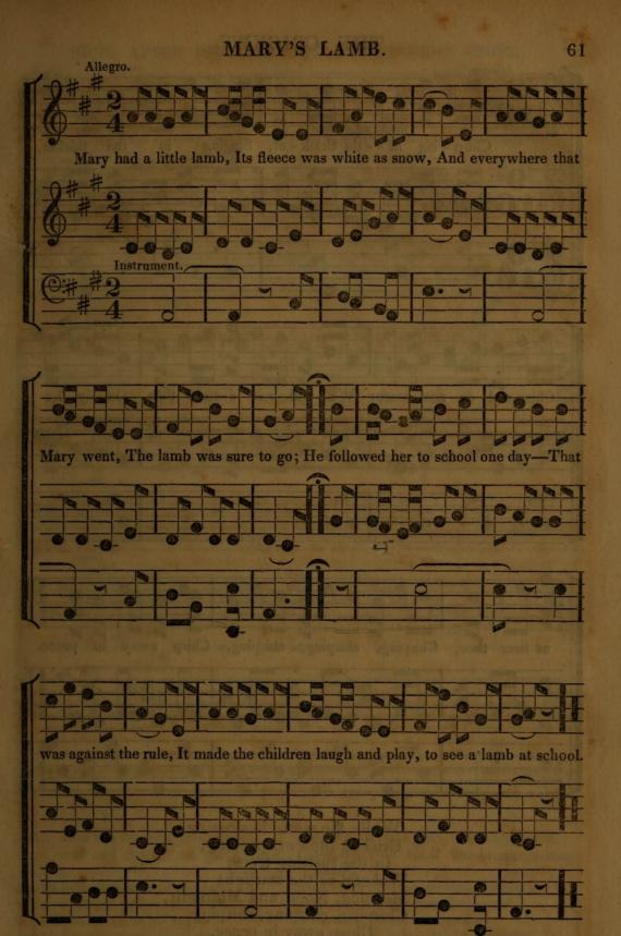 Image of Mary's lamb music