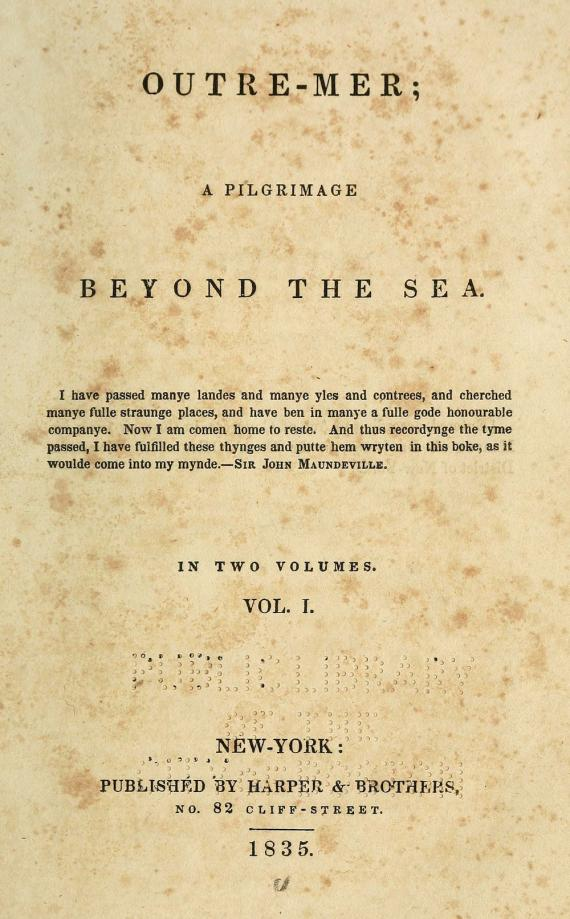 Image of title page to Outre-Mer